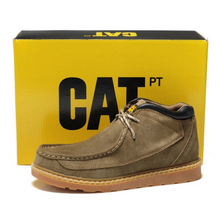 Демисезонные ботинки CAT без меха haki